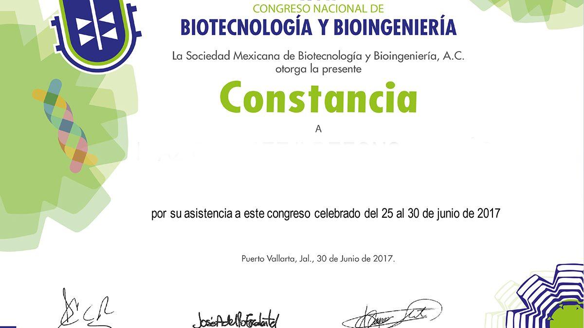 CONSTANCIAS DE ASISTENCIA AL XVII CONGRESO NACIONAL SMBB