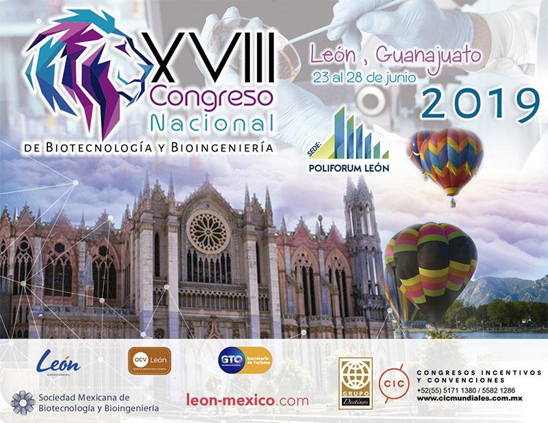 XVIII Congreso Nacional de Biotecnología y Bioingeniería León 2019